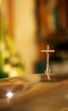 Cross in a church Stock Photos