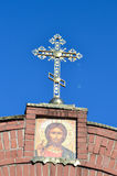 The cross on the Church on blue sky background. The cross on the Church on sky background Royalty Free Stock Photo