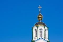 Cross on church cupola Stock Photo