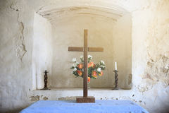 The cross in the Church. In England Stock Images