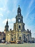 Cross Church in the old town of Dresden in Germany Stock Images