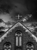 Cross on the church roof Royalty Free Stock Photo