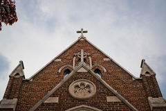 The cross on a church. Shoot in Hamilton, Ontario, Canada Royalty Free Stock Image