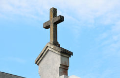 Cross on church in St. Augustine, Florida Royalty Free Stock Photo