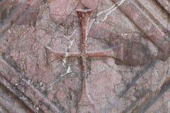 The cross in Church of St. Nicholas, Antalya. Royalty Free Stock Image