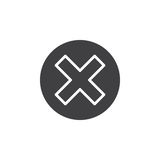 Cross in circle icon vector, filled flat sign, Royalty Free Stock Photo