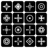 Cross, circle and square design elements. Stock Photo