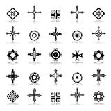 Cross, circle and square design elements. Stock Photos