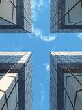 Cross in the city sky Stock Image