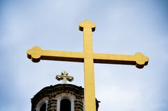 cross close up and detail of orthodox church Royalty Free Stock Photos