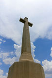 Cross and Cloud ,Architecture Royalty Free Stock Photo