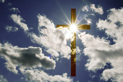 Cross and clouds Stock Images