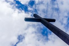 The Cross with clouds in the background. Azores Royalty Free Stock Photos