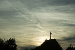 Cross and Clouds Stock Image
