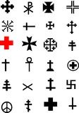 Cross Collection Royalty Free Stock Image