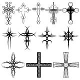 Cross collection. Collection of crosses in a variety of styles Royalty Free Stock Image