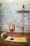 Cross and Communion Royalty Free Stock Photography