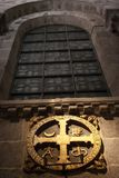 Cross consecration of the temple of the Cathedral of Santiago royalty free stock images