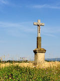Cross in cornfield Stock Images