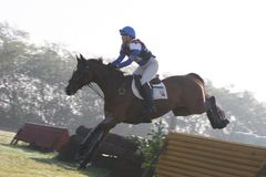 Cross country. International horse competition in Italy, Cascina Bornago, on 25 october 2009 Royalty Free Stock Photos