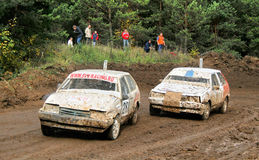 Cross-country buggy race Stock Photography