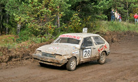 Cross-country buggy race Stock Images