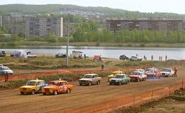 Cross-country buggy race Stock Photo