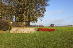 Cross country equestrian course Royalty Free Stock Photography