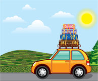 Cross Country Hippy Travel Vector. Illustration clip-art eps file vector illustration