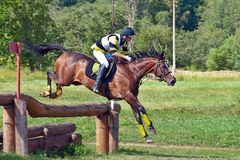Cross-Country, horseback jumping Stock Photos