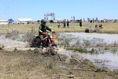 Cross country motor bike race Stock Images