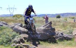 Cross country motor bike race Stock Photo