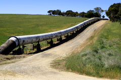 Cross Country Pipeline Royalty Free Stock Photography