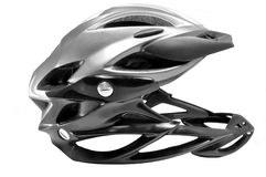 Cross country plastic helmet Stock Image