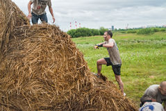 Cross-country race. Obstacle mow. Tyumen. Russia Stock Photos