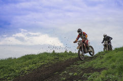Cross-country race sport for real men Stock Photos