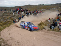 Cross country rally car Royalty Free Stock Photo