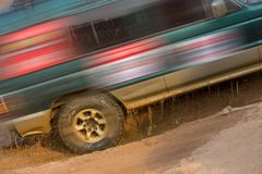 Automobile cross-country rally in China Stock Photos