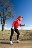 Cross country running Stock Images