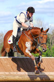 Cross-Country in Russia, horseback jumping Royalty Free Stock Photos