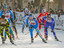 Cross-country ski race Stock Images