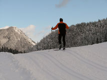 Cross-country ski run Stock Images