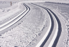 Cross Country Ski Track Stock Image