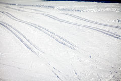 Cross Country Ski Tracks in Engadin Royalty Free Stock Photography