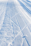 Cross country ski trail Stock Photos