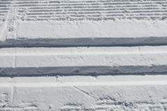 Cross country ski trail in fresh snow Stock Image