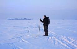 Cross-country skier Royalty Free Stock Photos