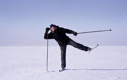 Cross-country Skier Royalty Free Stock Image