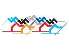 Cross country Skier race. Stock Photo