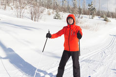 Cross country skier Royalty Free Stock Photography